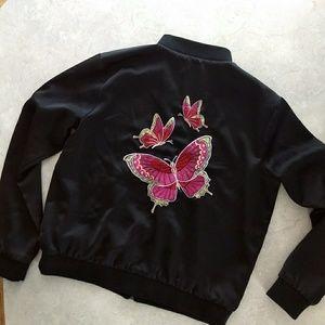 Forever 21 butterfly bomber jacket 🦋